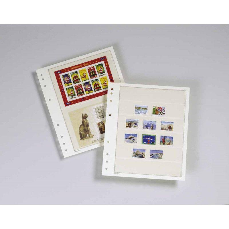 Feuilles mobiles Moc à 6 bandes pour timbres-poste.