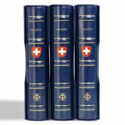Reliure Leuchtturm à barre rotative gravée Suisse.