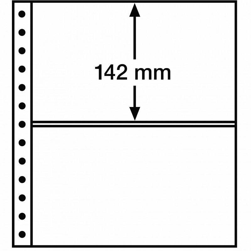 Feuille R Leuchturm à 2 bandes pour reliures à anneaux.
