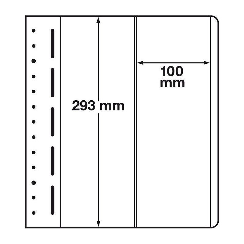 Feuilles neutres LB Leuchtturm à 2 compartiments verticales.