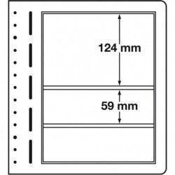 Feuilles neutres LB Leuchtturm à 3 compartiments mix.