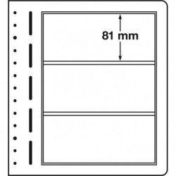 Feuilles neutres LB Leuchtturm à 3 compartiments.