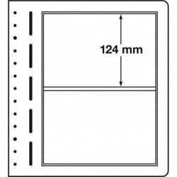 Feuilles neutres LB Leuchtturm à 2 compartiments.