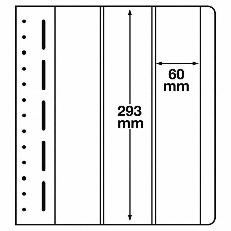 Feuilles neutres LB Leuchtturm à 3 compartiments verticales.