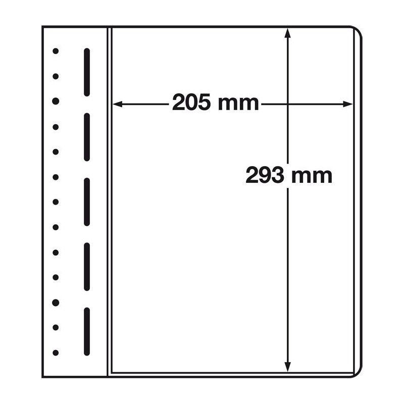 Feuilles neutres LB Leuchtturm à 1 compartiment 205 x 293 mm.