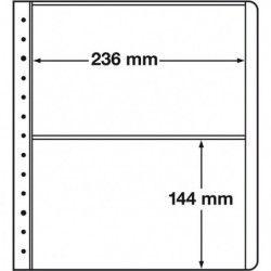 Feuilles neutres LB Leuchtturm à 2 compartiments 236 x 144 mm.