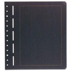Feuilles neutres en carton noir liséré or BL S Leuchtturm.