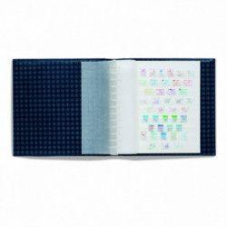 Feuilles Alpha en carton blanc à 9 bandes pour timbres.