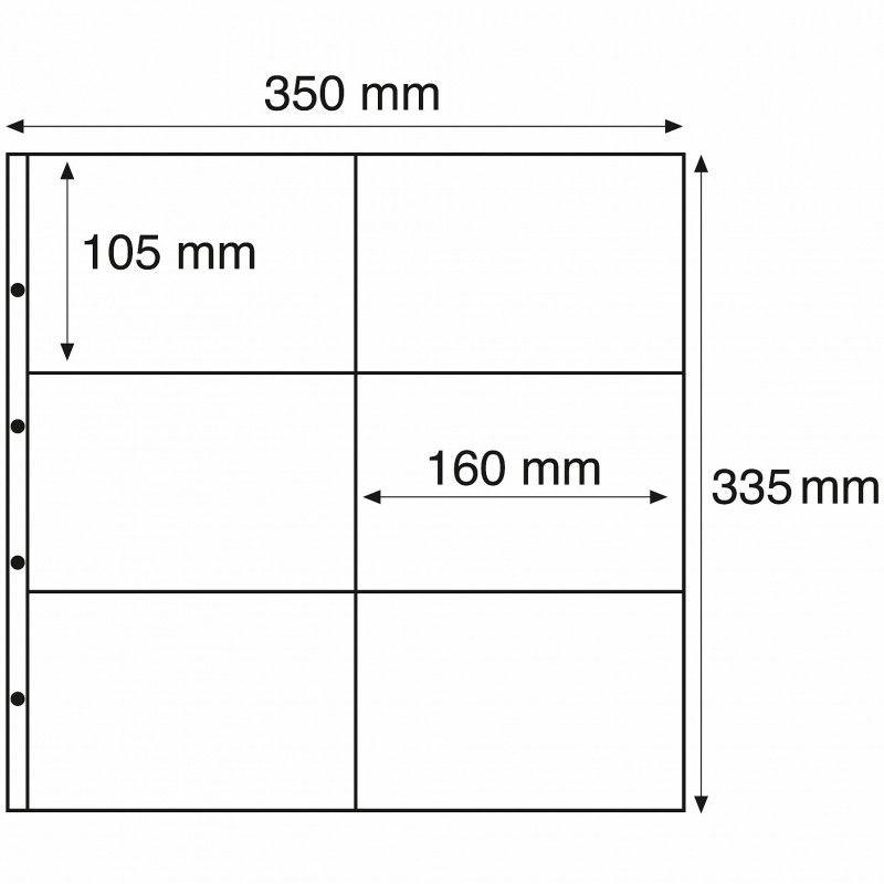 Recharges Maximum transparentes pour cartes postales modernes horizontales.