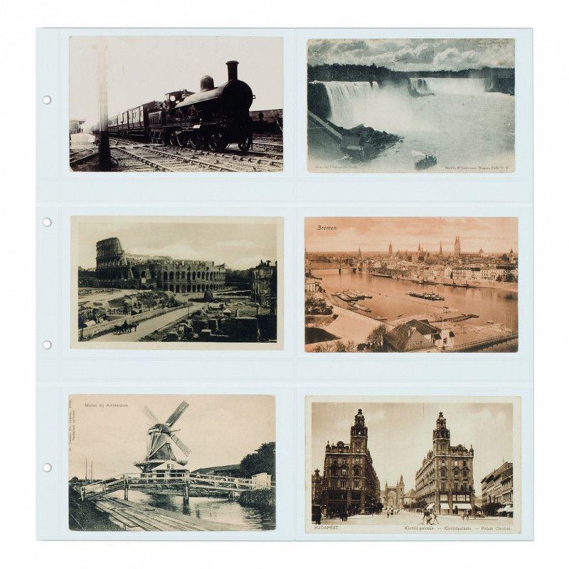 Recharges Maximum transparentes pour cartes postales anciennes horizontales.