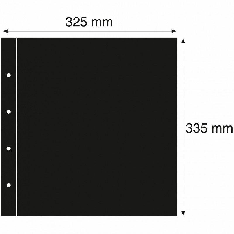 Intercalaires noirs 325 x 335 mm pour album Maximum Leuchtturm.