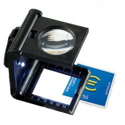 Compte-fils lumineuse LED, grossissement 5 fois.