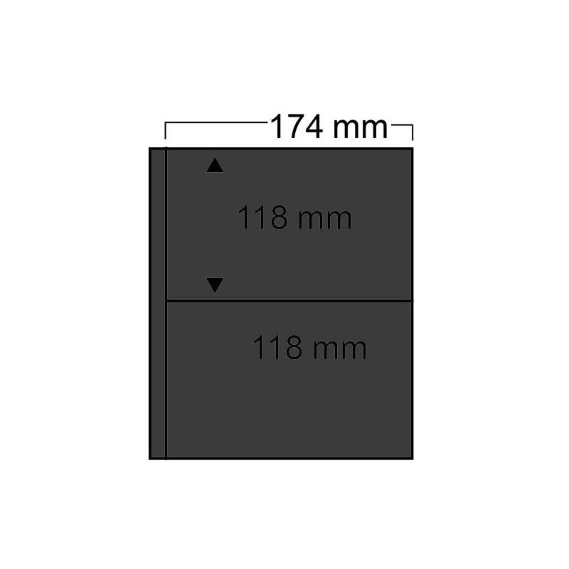 Feuilles noires Compact Safe à 2 poches pour enveloppes, cartes.