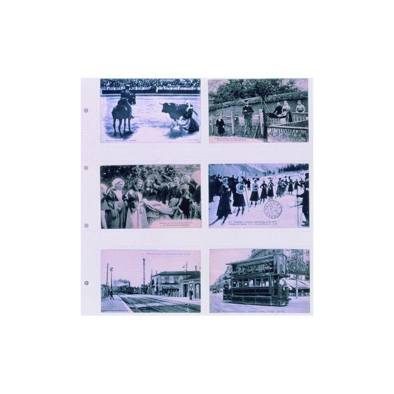 Feuilles blanches SAFE 6012 pour cartes postales anciennes horizontales.
