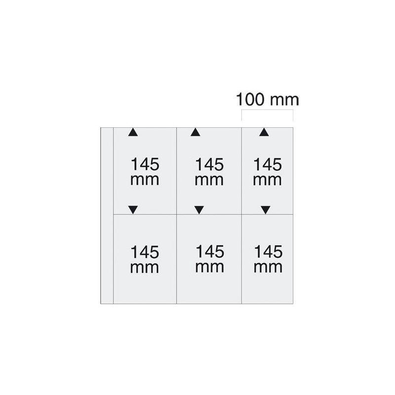 Feuilles blanches SAFE 6022 pour cartes postales anciennes verticales.