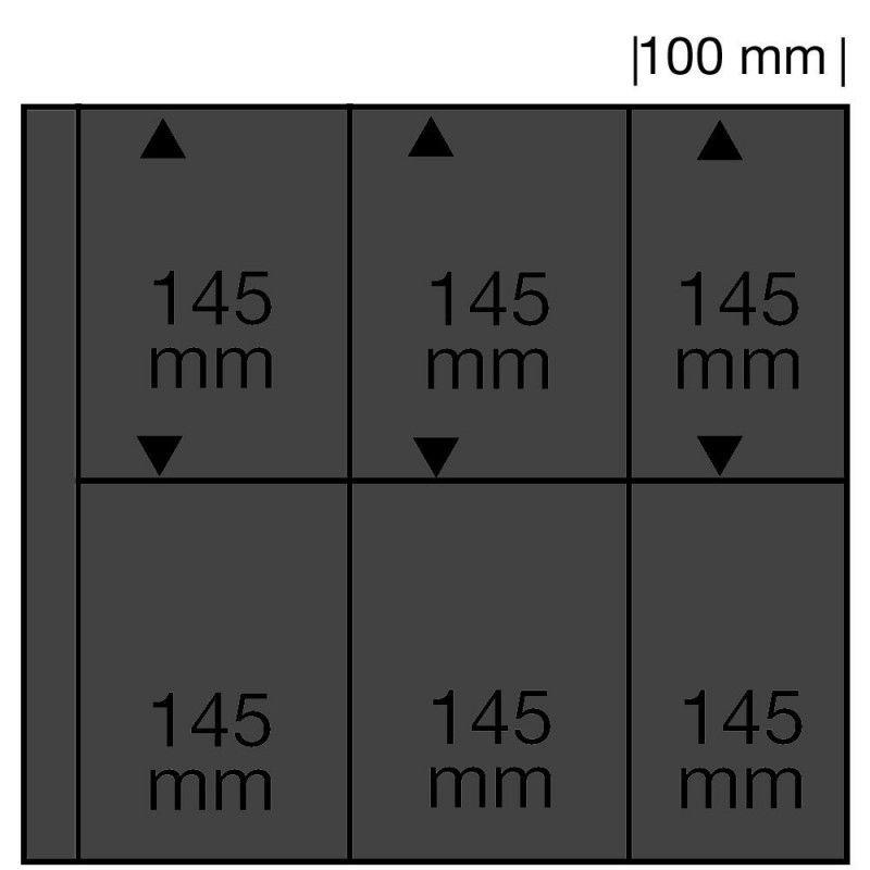 Feuilles noires SAFE 6220 pour cartes postales anciennes verticales.