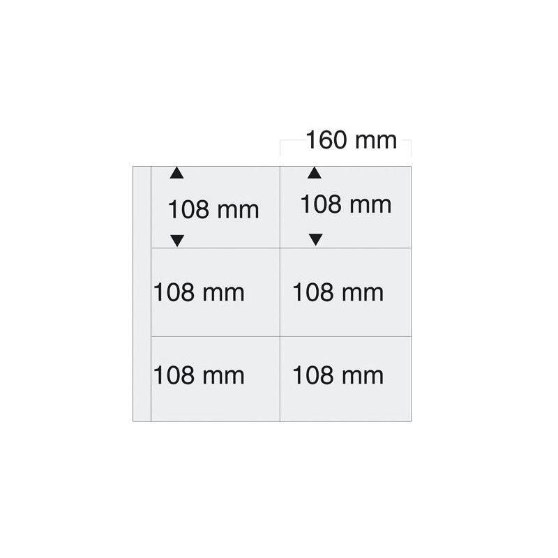 Feuilles blanches SAFE 6010 pour cartes postales modernes horizontales.