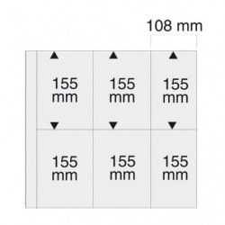 Feuilles blanches SAFE 6020 pour cartes postales modernes verticales.