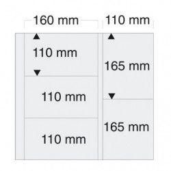 Feuilles blanches mixtes SAFE 6013 pour 10 cartes postales modernes.