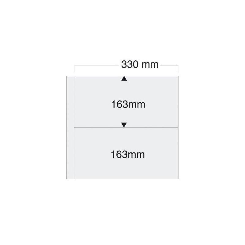 Feuilles blanches SAFE 6015 pour 4 cartes, enveloppes 330 x 163 mm.