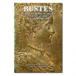 Bustes des rois et reines de France sur les jetons de l'Ancien Régime.