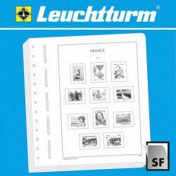 Feuilles neutres Leuchtturm à 2 cases pour carnet Croix Rouge Française.