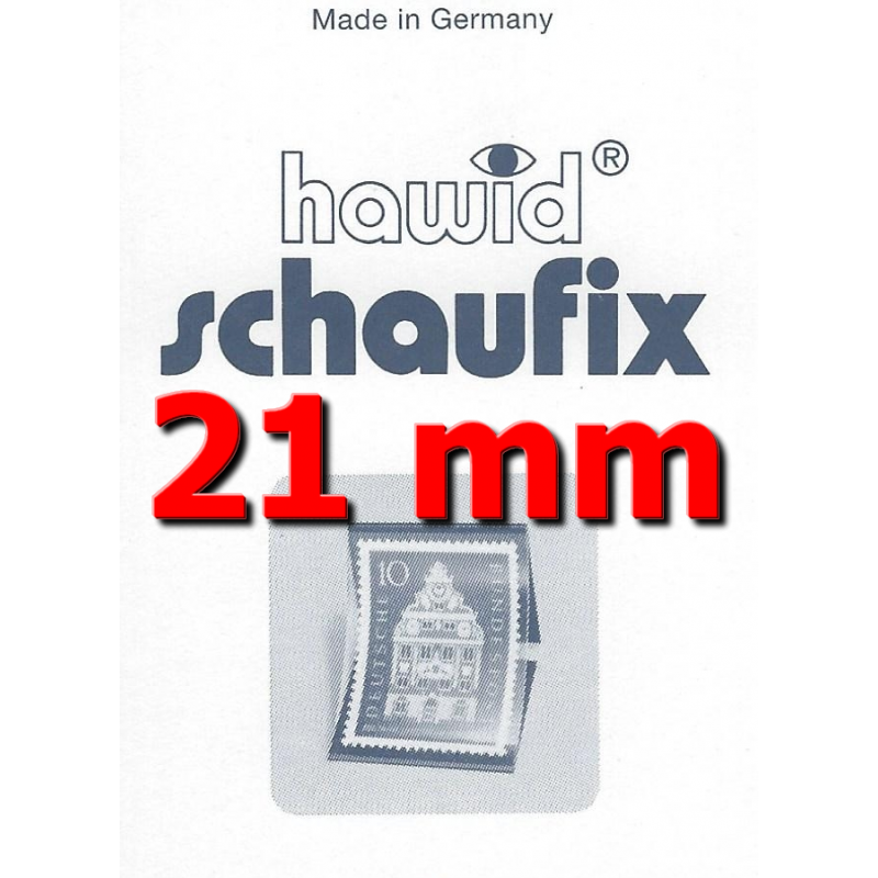 Bandes Hawid Schaufix double soudure 210 x 21 mm pour timbres-poste.