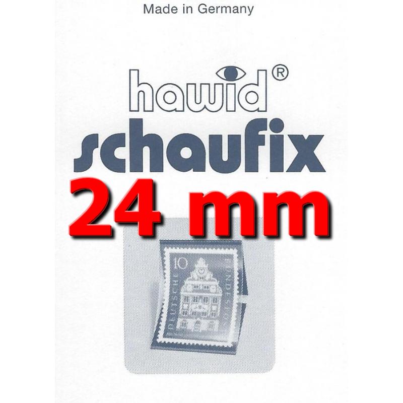 Bandes Hawid Schaufix double soudure 210 x 24 mm pour timbres-poste.