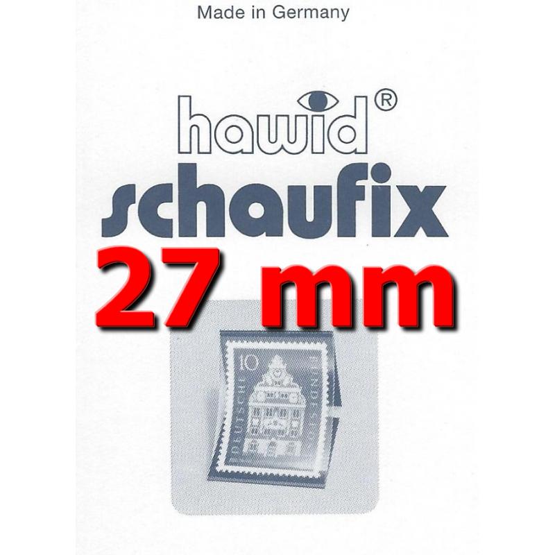 Bandes Hawid Schaufix double soudure 210 x 27 mm pour timbres-poste.