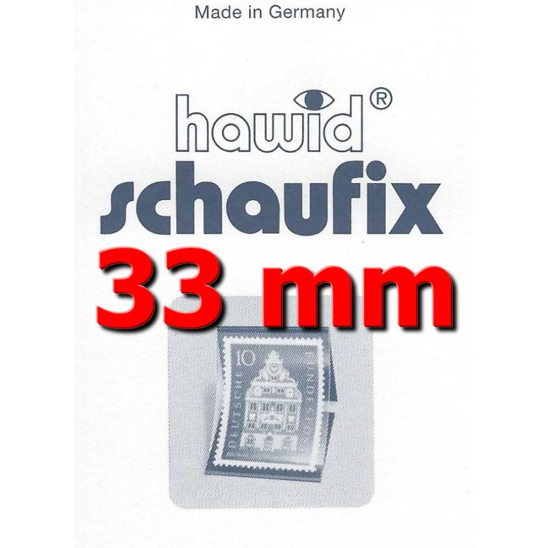 Bandes Hawid Schaufix double soudure 210 x 33 mm pour timbres-poste.