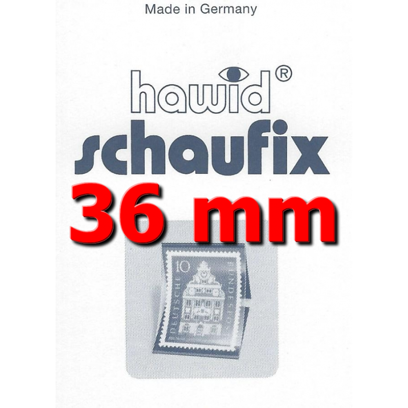 Bandes Hawid Schaufix double soudure 210 x 36 mm pour timbres-poste.