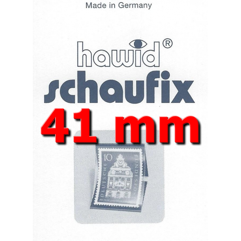 Bandes Hawid Schaufix double soudure 210 x 41 mm pour timbres-poste.