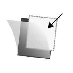 Pochettes Hawid simple soudure 40 x 26 mm pour timbres type commémoratif horizontal.