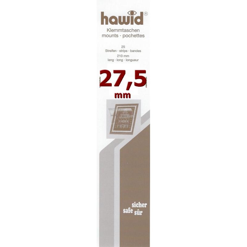 Bandes Hawid simple soudure 210 x 27,5 mm pour timbres-poste.
