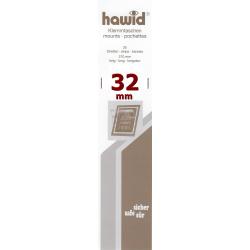 Bandes Hawid simple soudure 210 x 32 mm pour timbres-poste.