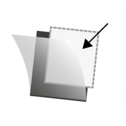Bandes Hawid simple soudure 210 x 36 mm pour timbres-poste.