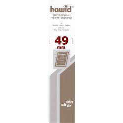 Bandes Hawid simple soudure 210 x 49 mm pour timbres-poste.
