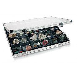 Vitrine de collection avec 24 cases pour miniatures.