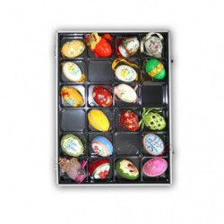 Vitrine 24 cases, pour mineraux, coquillages.