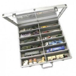 Vitrine grand format 12 cases pour modèles réduits.