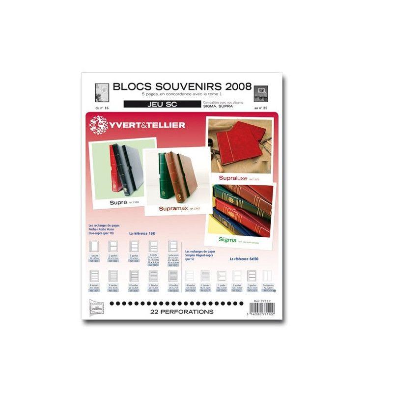 Jeux SC France blocs souvenirs 2009 avec pochettes de protection.