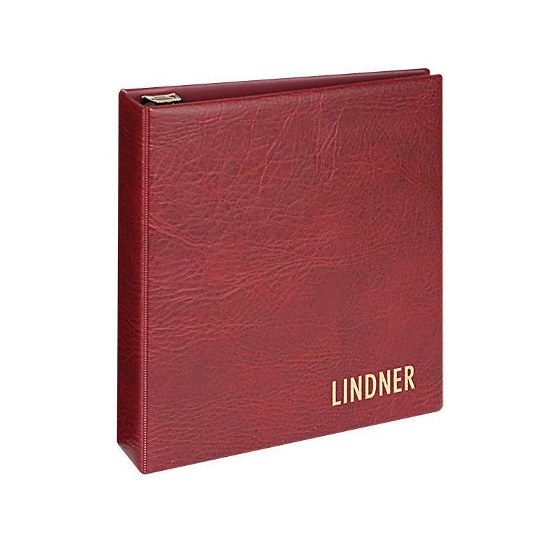Reliure luxe Uniplate Lindner bordeaux.