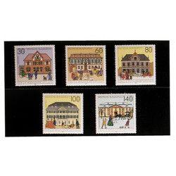 Cartes de rangement en plastique à 2 bandes pour timbres-poste.