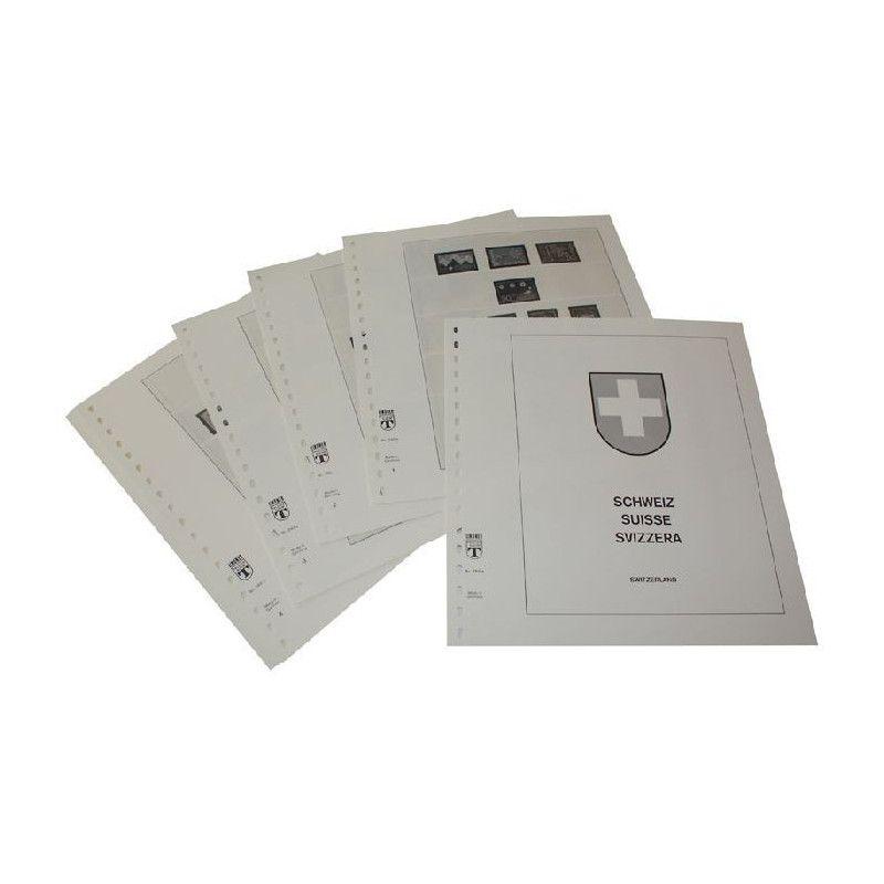 Feuilles pré imprimées Lindner-T Suisse 1968-1975.