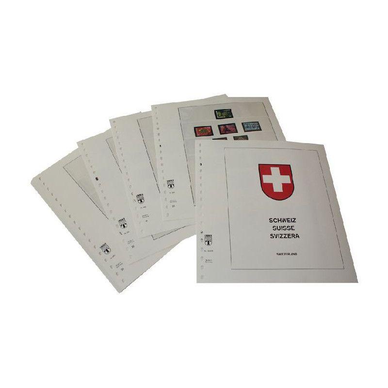 Feuilles pré imprimées Lindner-T Suisse 1976-1984.