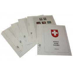 Feuilles pré imprimées Lindner-T Suisse 1985-1998.