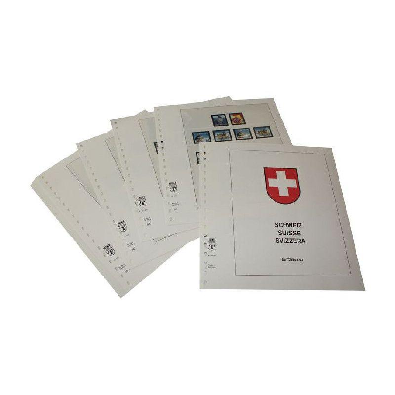 Feuilles pré imprimées Lindner-T Suisse 1999-2009.