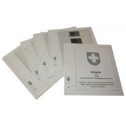 """Feuilles pré imprimées Lindner-T Suisse carnets """"Pro Patria"""" 1979-2014."""