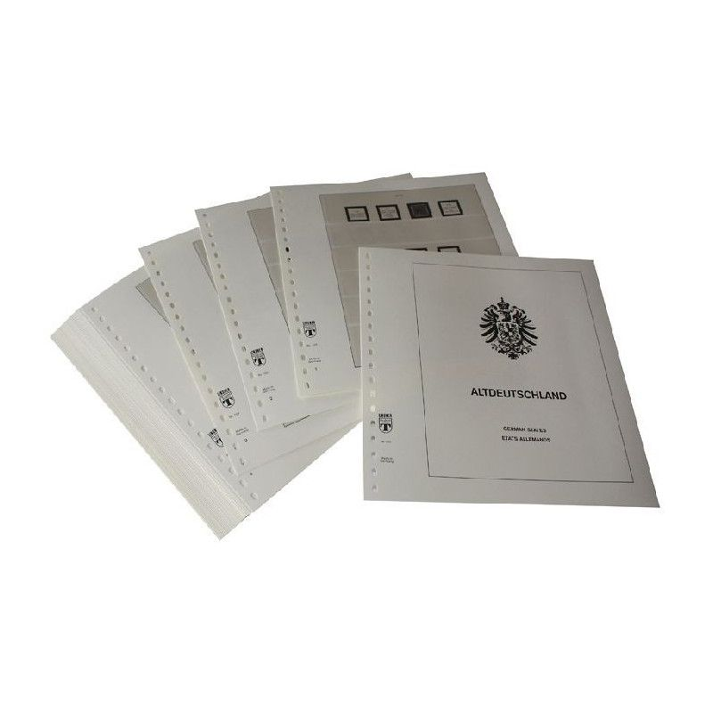 Feuilles pré imprimées Lindner-T Anciens états Allemands 1850-1879.