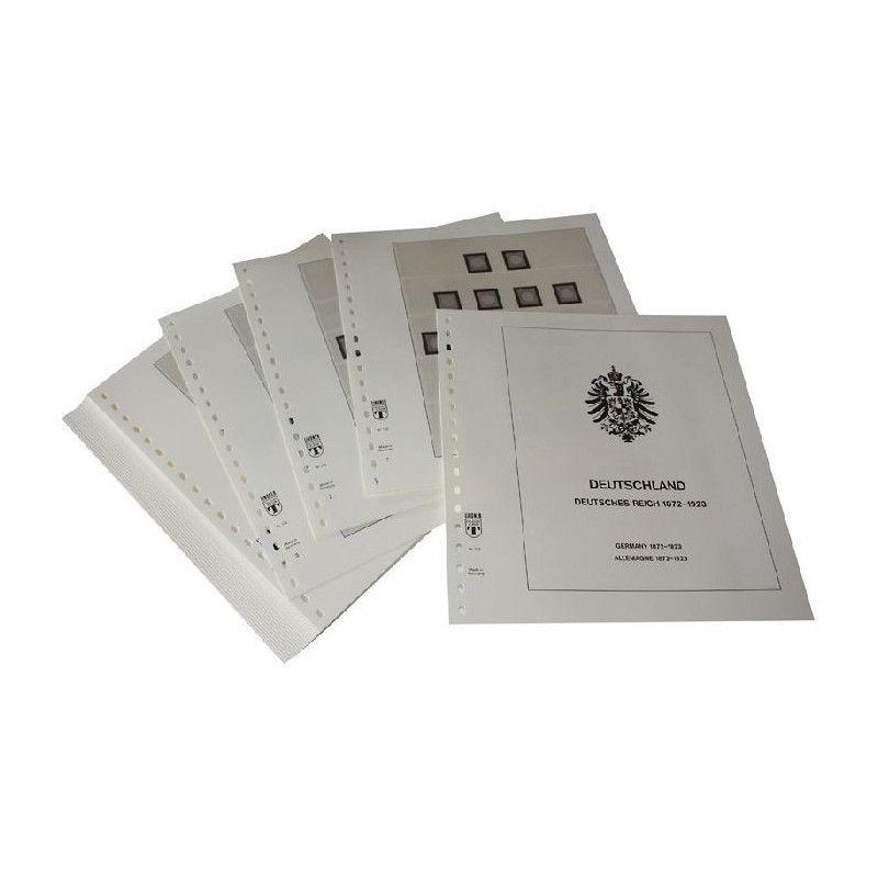 Feuilles pré imprimées Lindner-T Deutsches Reich 1872-1923.